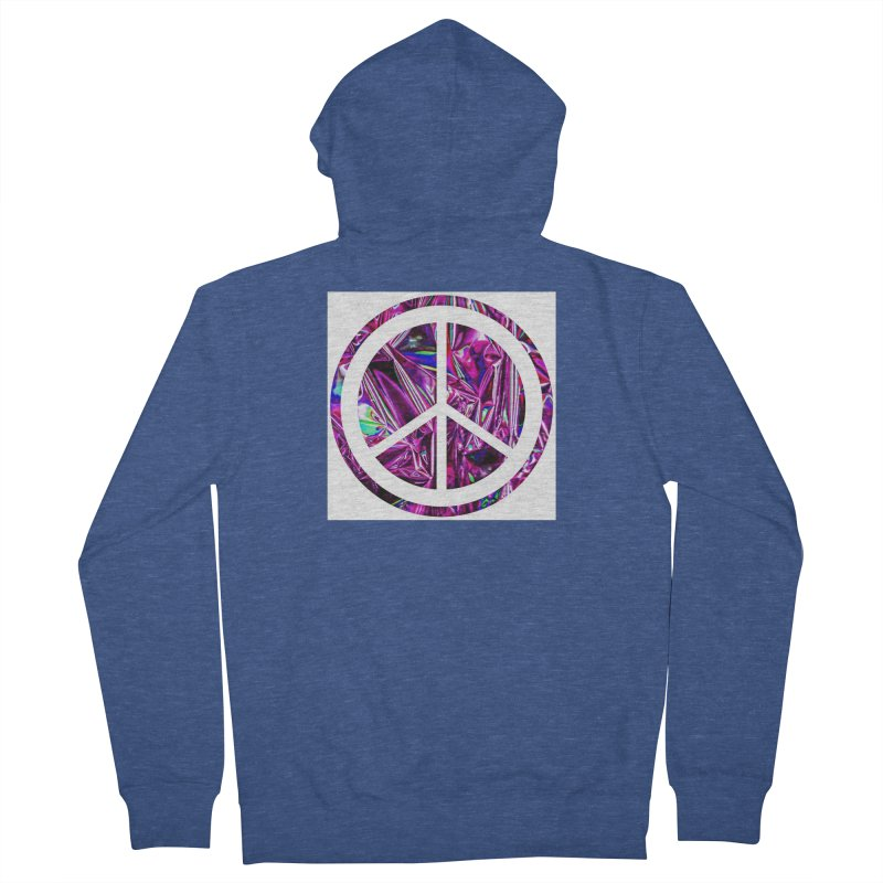 Peace 3 Men's French Terry Zip-Up Hoody by Karmic Reaction Art