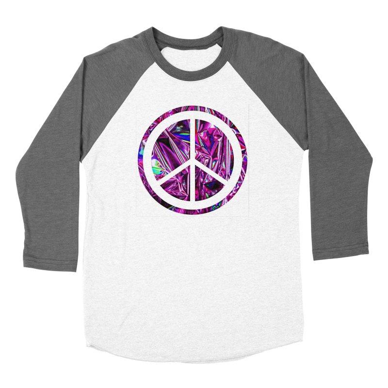 Peace 3 Men's Baseball Triblend Longsleeve T-Shirt by Karmic Reaction Art