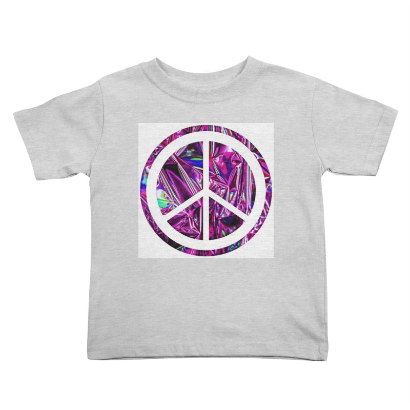 Peace 3 Kids Toddler T-Shirt by Karmic Reaction Art