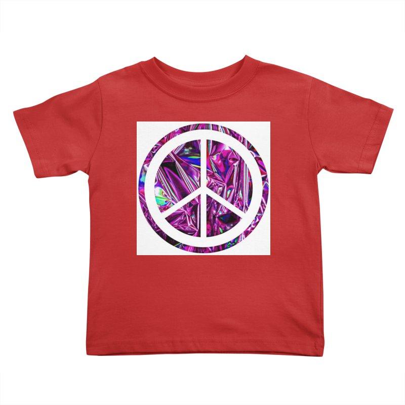Peace 3 Kids Toddler T-Shirt by Karmic Reaction Art