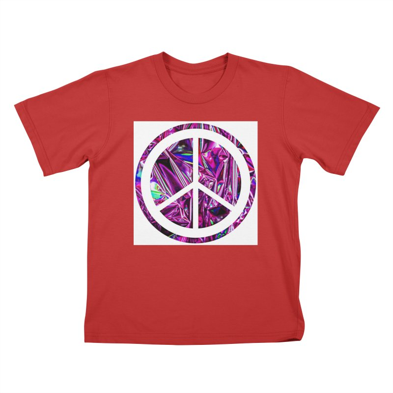 Peace 3 Kids T-Shirt by Karmic Reaction Art