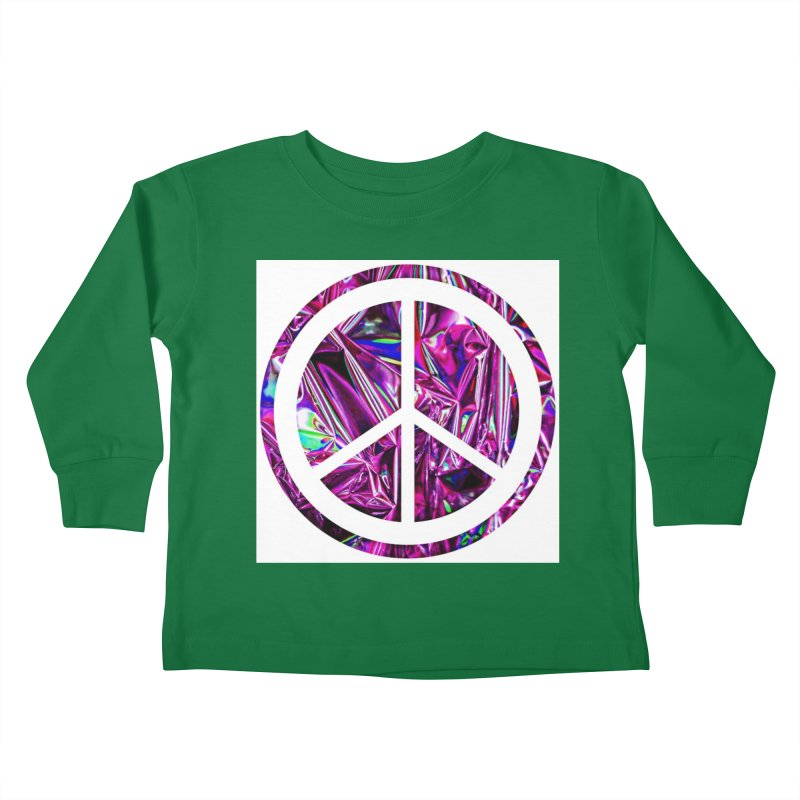 Peace 3 Kids Toddler Longsleeve T-Shirt by Karmic Reaction Art