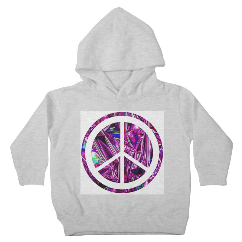 Peace 3 Kids Toddler Pullover Hoody by Karmic Reaction Art