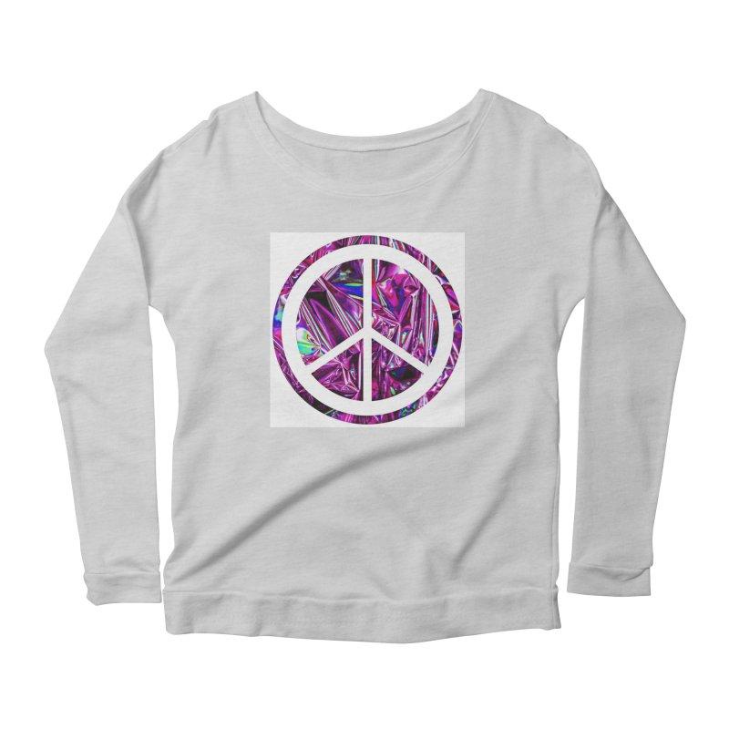 Peace 3 Women's Scoop Neck Longsleeve T-Shirt by Karmic Reaction Art