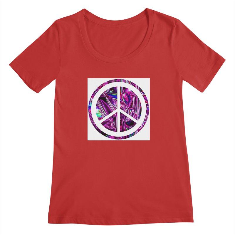 Peace 3 Women's Regular Scoop Neck by Karmic Reaction Art