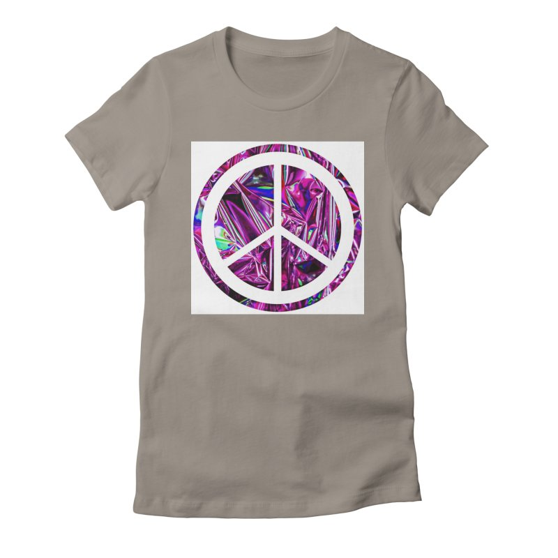 Peace 3 Women's Fitted T-Shirt by Karmic Reaction Art