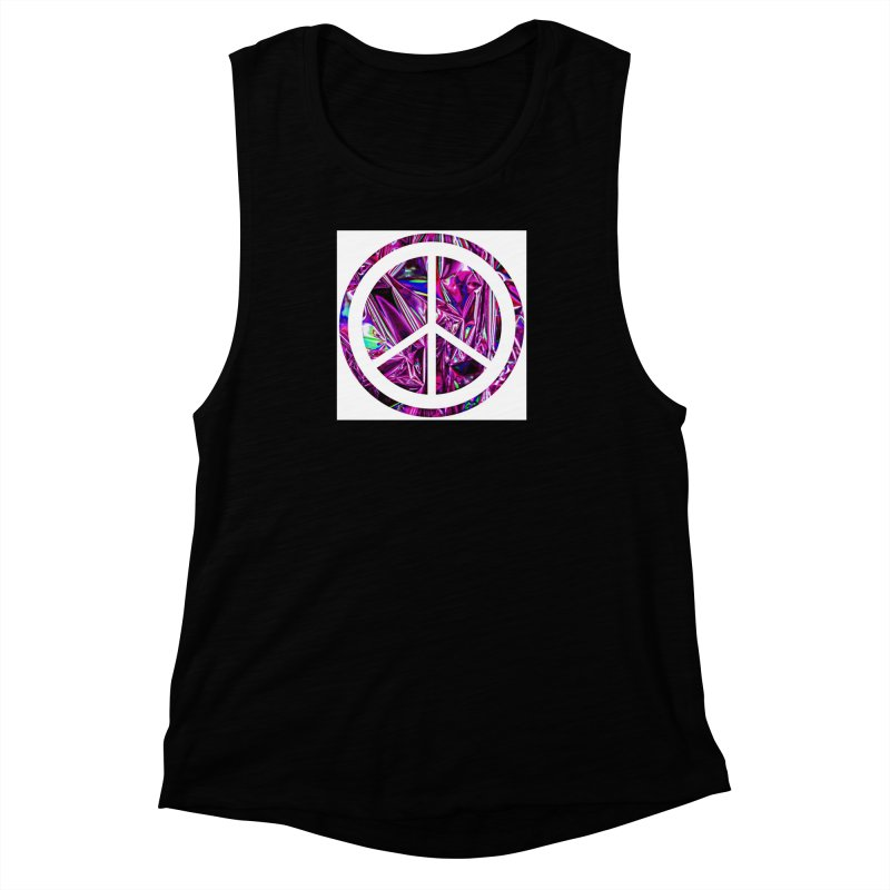 Peace 3 Women's Muscle Tank by Karmic Reaction Art