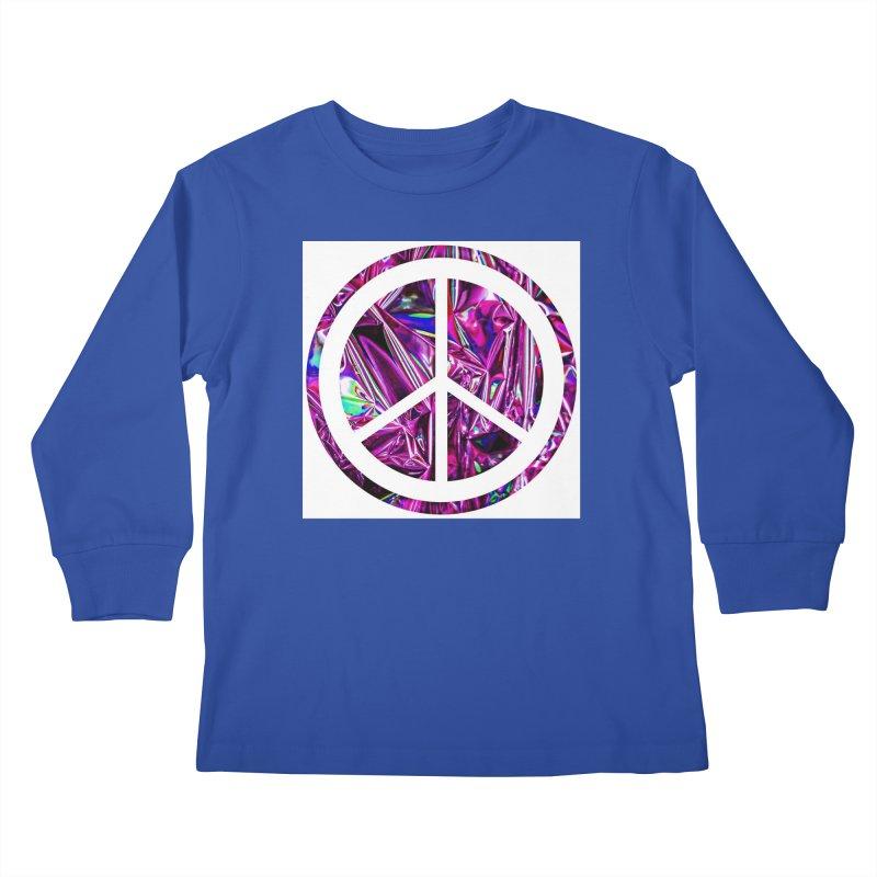 Peace 3 Kids Longsleeve T-Shirt by Karmic Reaction Art