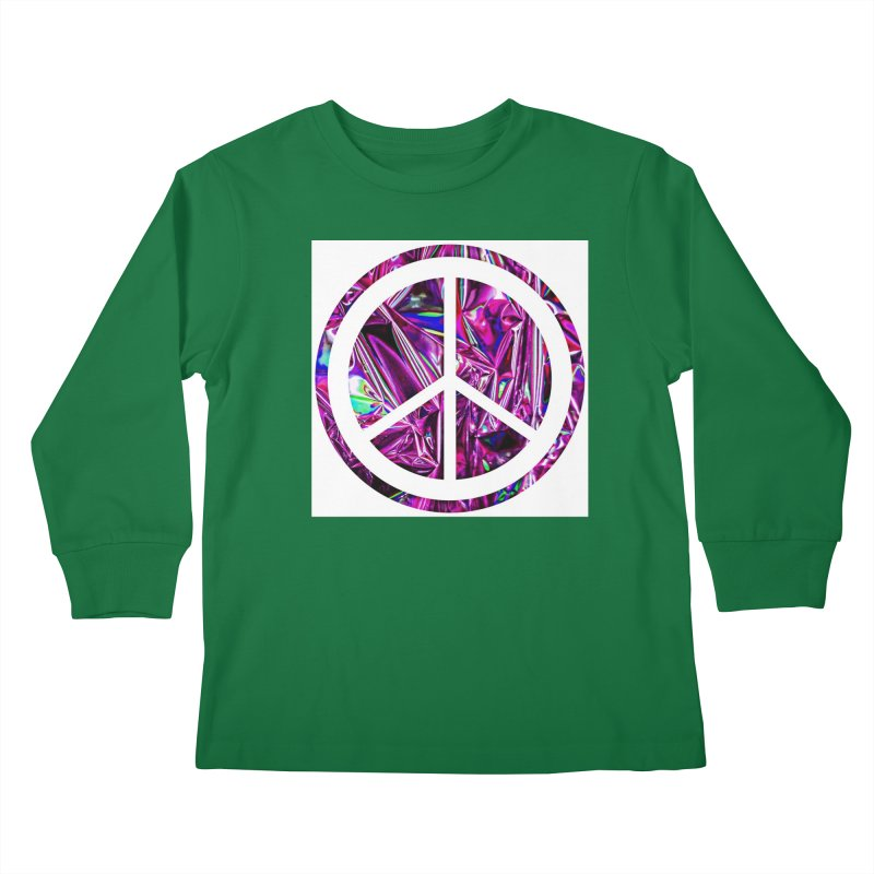 Peace 3 Kids Longsleeve T-Shirt by Karmic Reaction Art