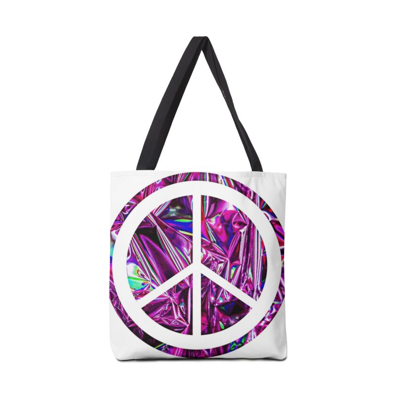 Peace 3 Accessories Tote Bag Bag by Karmic Reaction Art