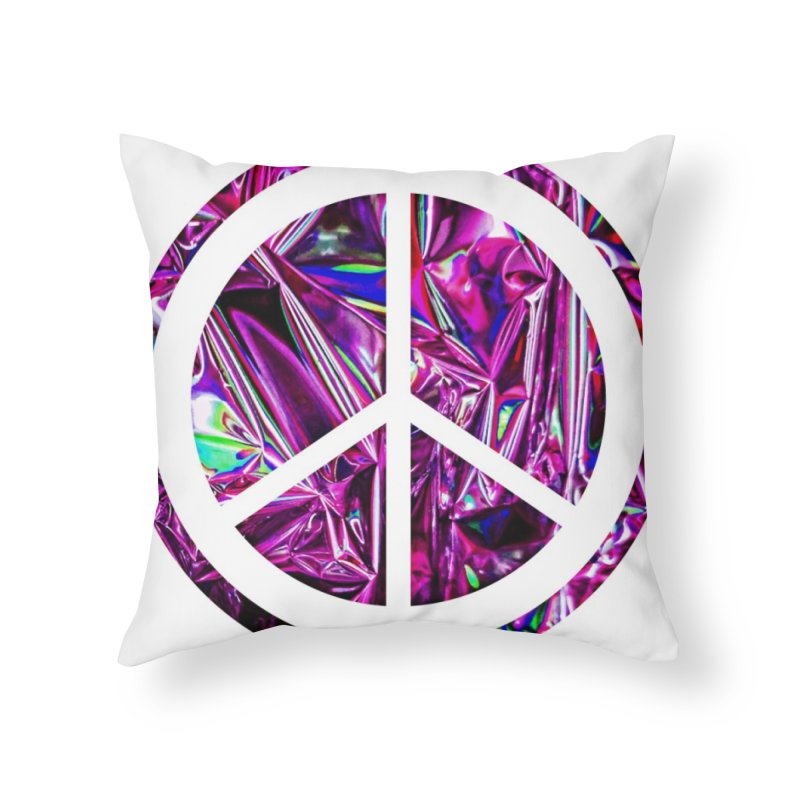 Peace 3 Home Throw Pillow by Karmic Reaction Art