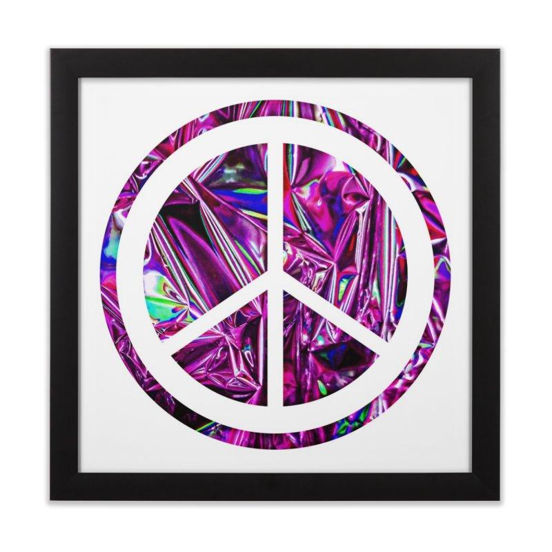Peace 3 Home Framed Fine Art Print by Karmic Reaction Art