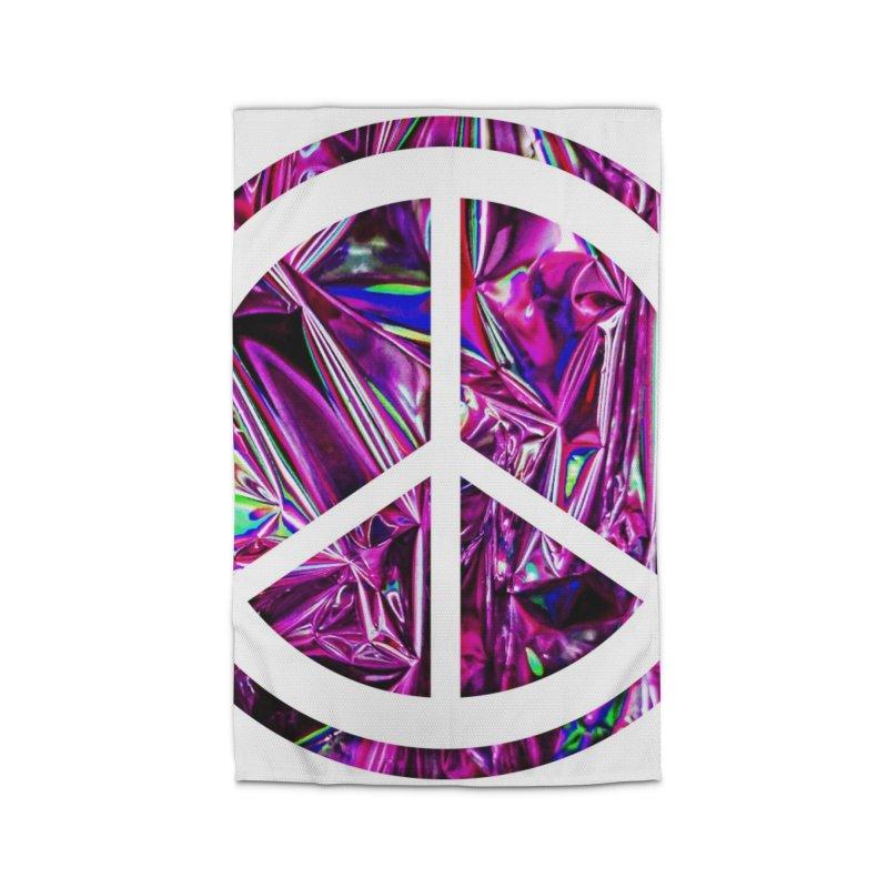 Peace 3 Home Rug by Karmic Reaction Art