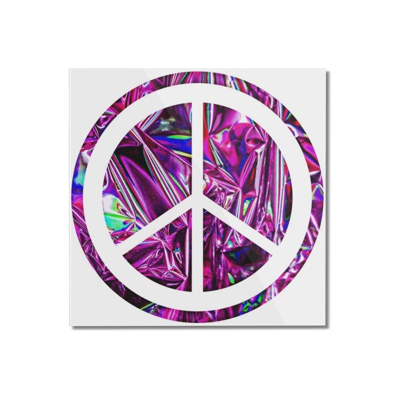 Peace 3 Home Mounted Acrylic Print by Karmic Reaction Art