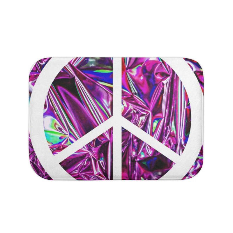 Peace 3 Home Bath Mat by Karmic Reaction Art
