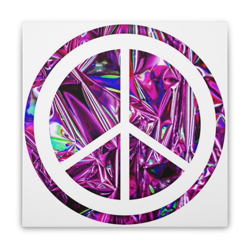 Peace 3 Home Stretched Canvas by Karmic Reaction Art