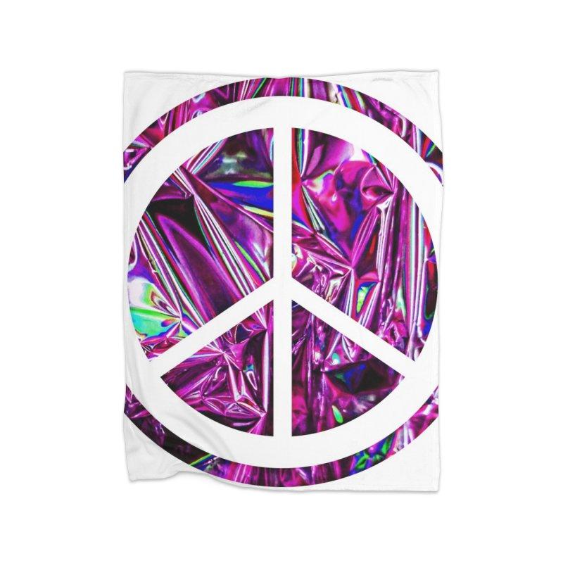 Peace 3 Home Fleece Blanket Blanket by Karmic Reaction Art