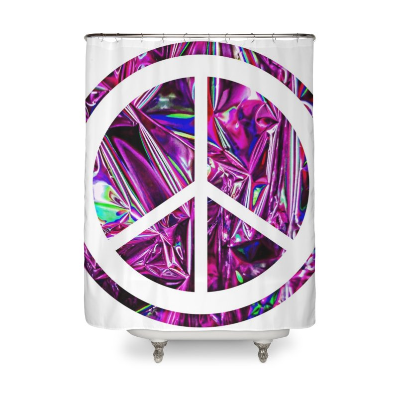 Peace 3 Home Shower Curtain by Karmic Reaction Art
