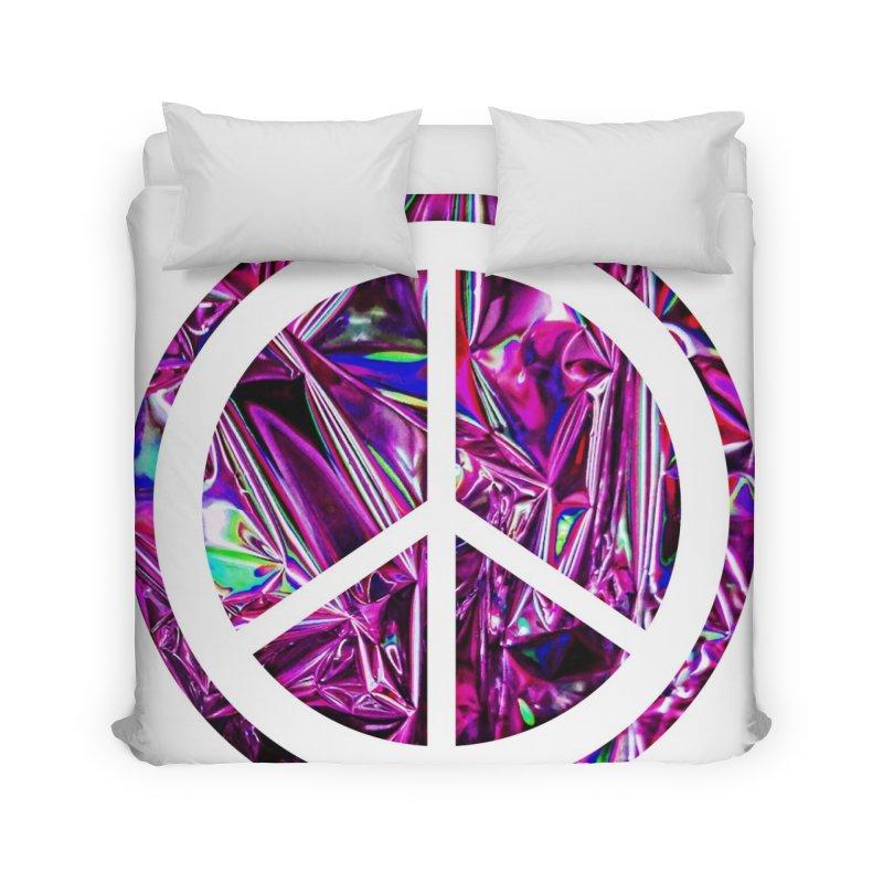 Peace 3 Home Duvet by Karmic Reaction Art
