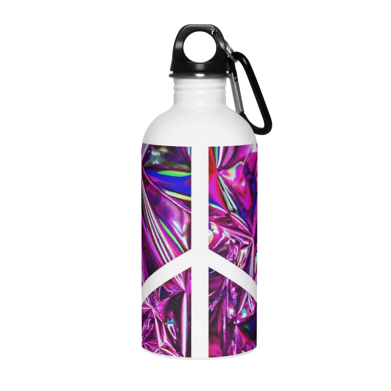 Peace 3 Accessories Water Bottle by Karmic Reaction Art