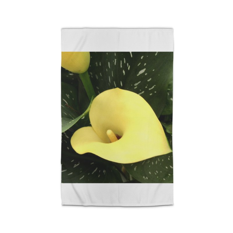 Yellow flower 3 Home Rug by Karmic Reaction Art