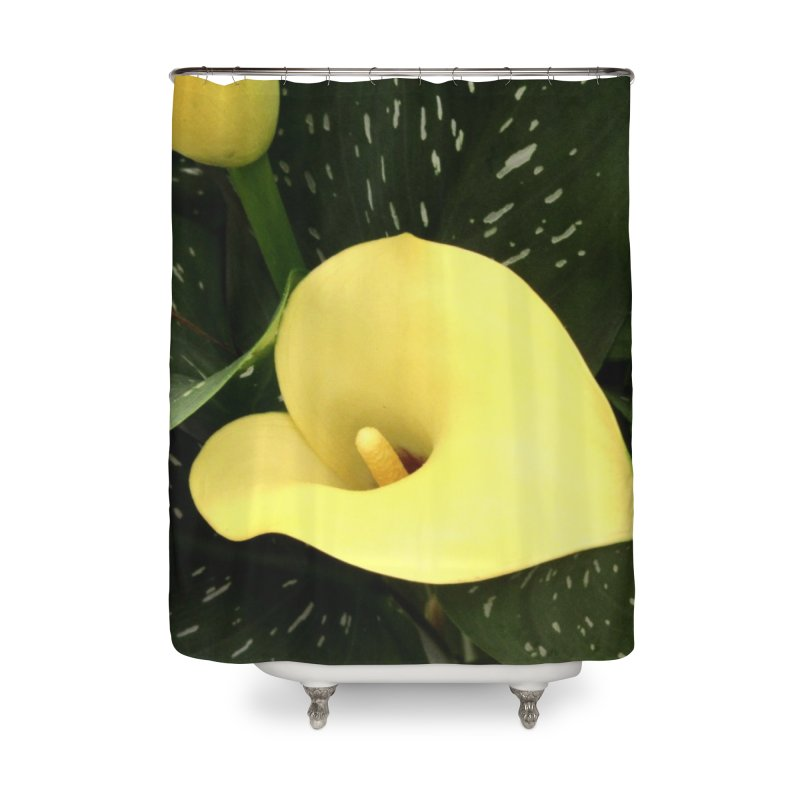 Yellow flower 3 Home Shower Curtain by Karmic Reaction Art