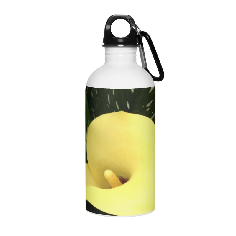 Yellow flower 3 Accessories Water Bottle by Karmic Reaction Art