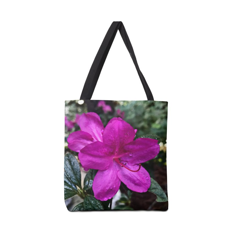 Pink Flower 3 Accessories Tote Bag Bag by Karmic Reaction Art