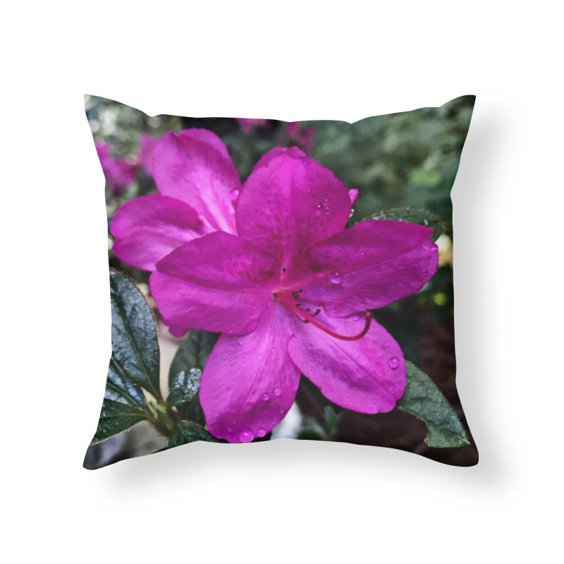 Pink Flower 3 Home Throw Pillow by Karmic Reaction Art