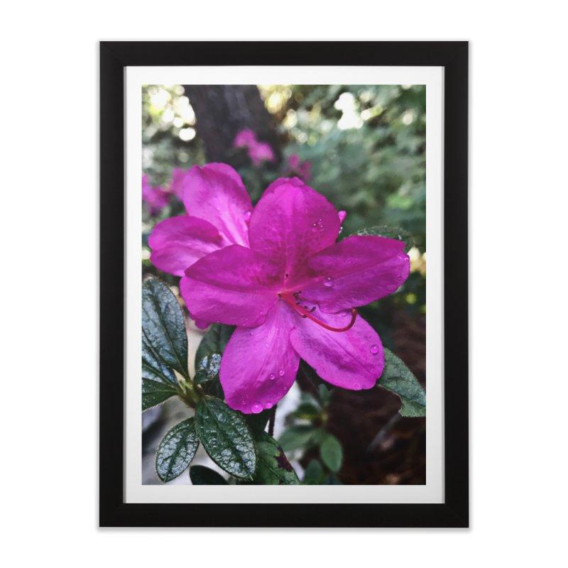 Pink Flower 3 Home Framed Fine Art Print by Karmic Reaction Art