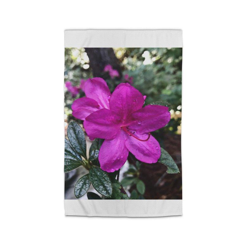 Pink Flower 3 Home Rug by Karmic Reaction Art
