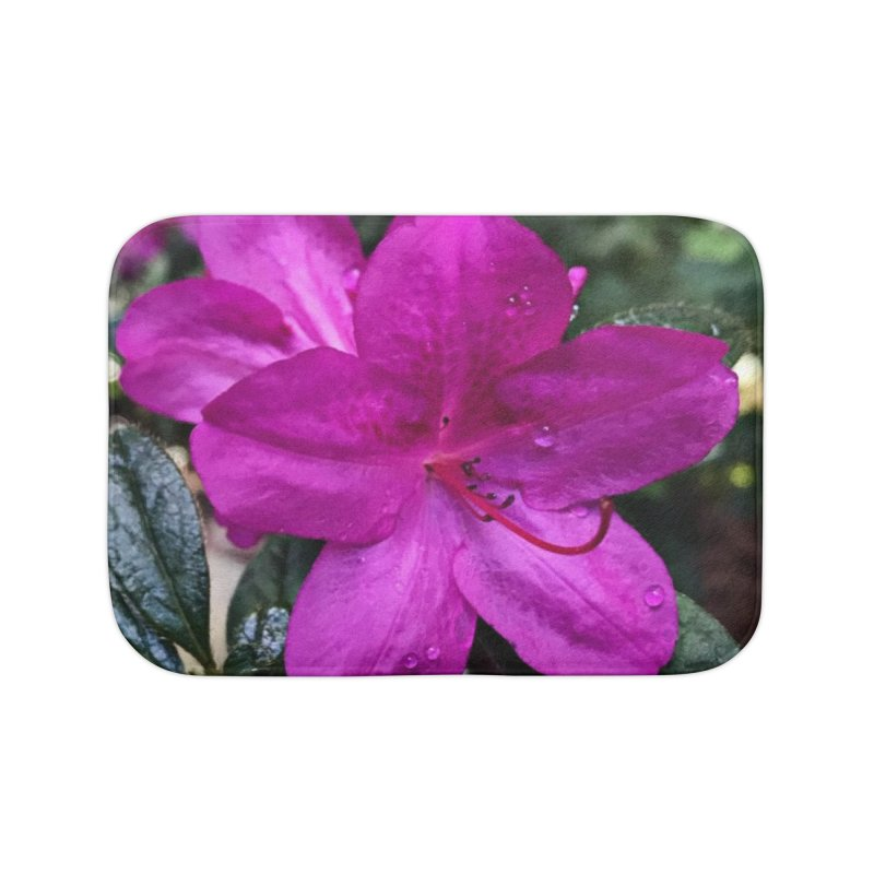 Pink Flower 3 Home Bath Mat by Karmic Reaction Art