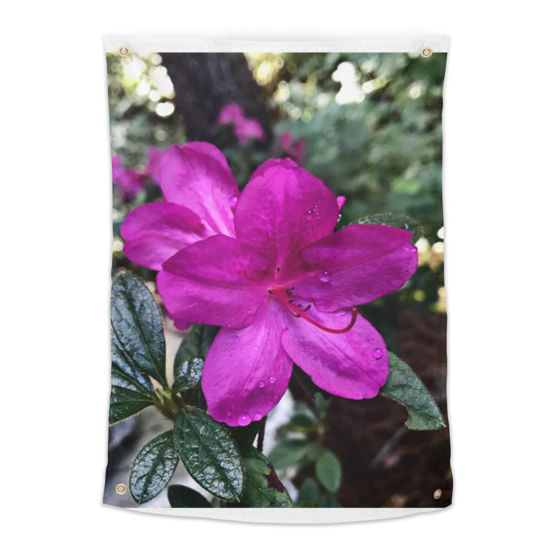 Pink Flower 3 Home Tapestry by Karmic Reaction Art