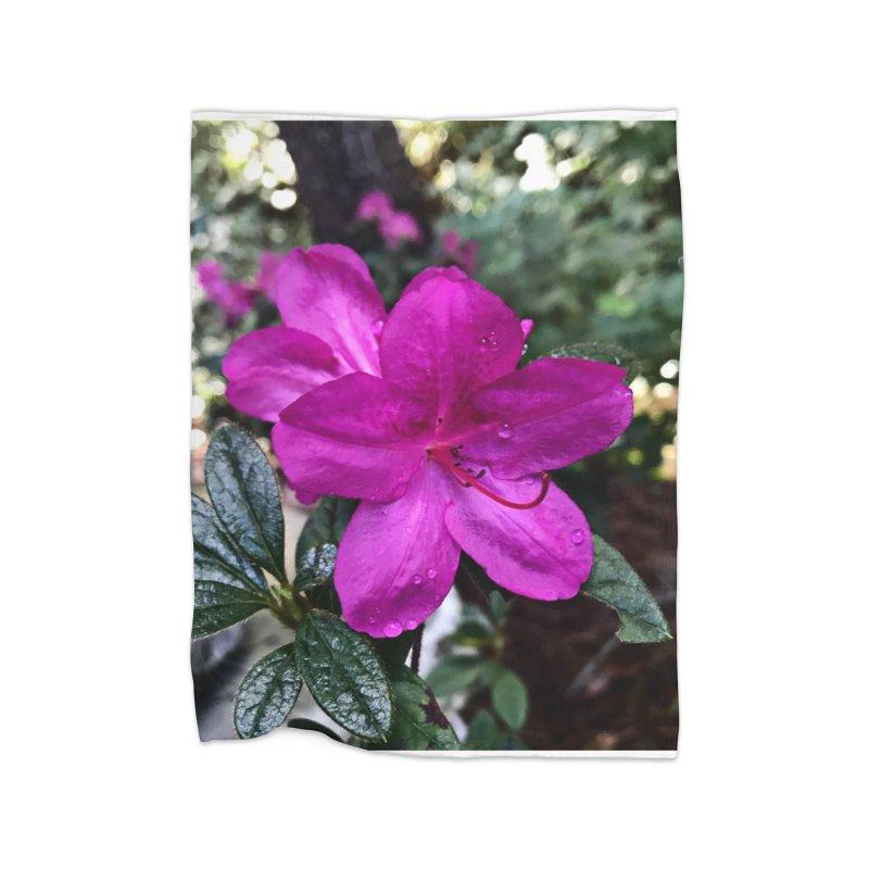 Pink Flower 3 Home Fleece Blanket Blanket by Karmic Reaction Art