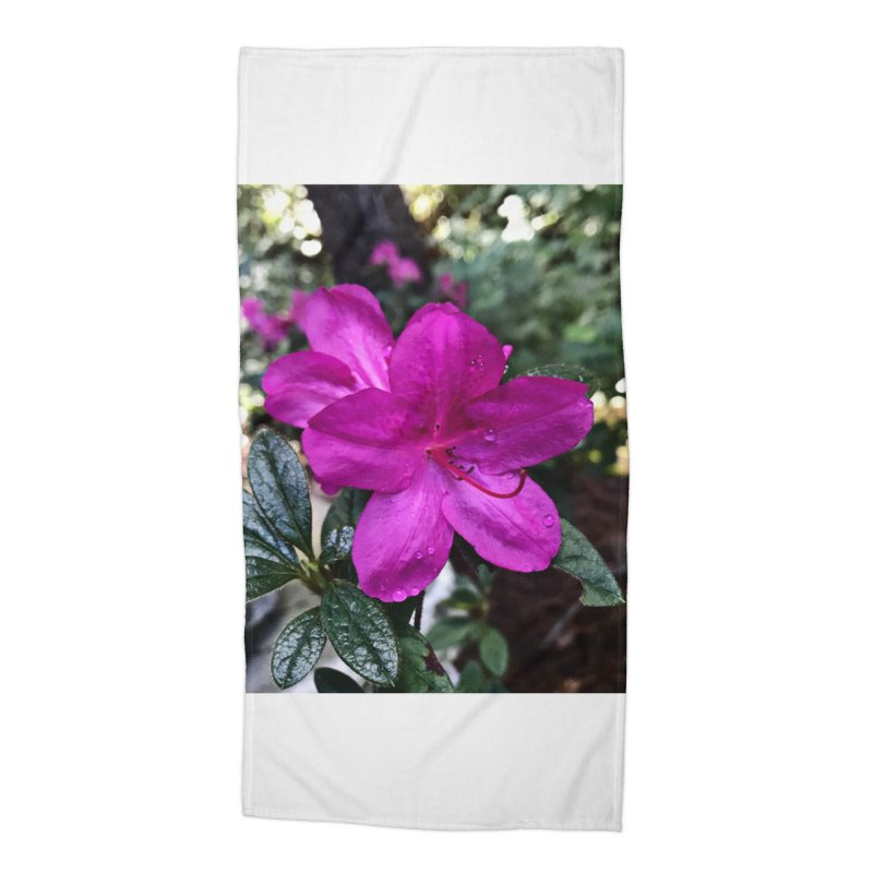 Pink Flower 3 Accessories Beach Towel by Karmic Reaction Art
