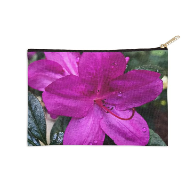Pink Flower 3 Accessories Zip Pouch by Karmic Reaction Art