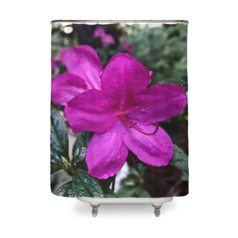 Pink Flower 3 Home Shower Curtain by Karmic Reaction Art