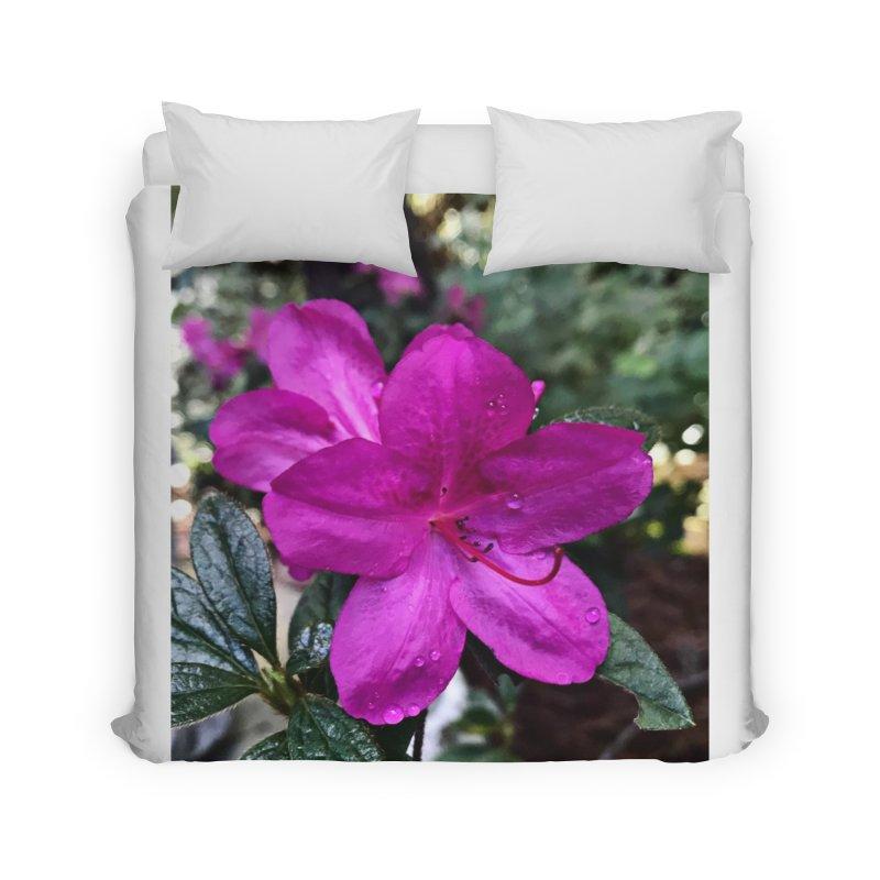 Pink Flower 3 Home Duvet by Karmic Reaction Art
