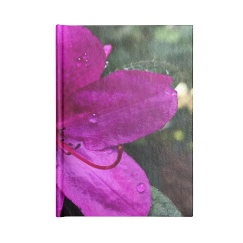 Pink Flower 3 Accessories Blank Journal Notebook by Karmic Reaction Art