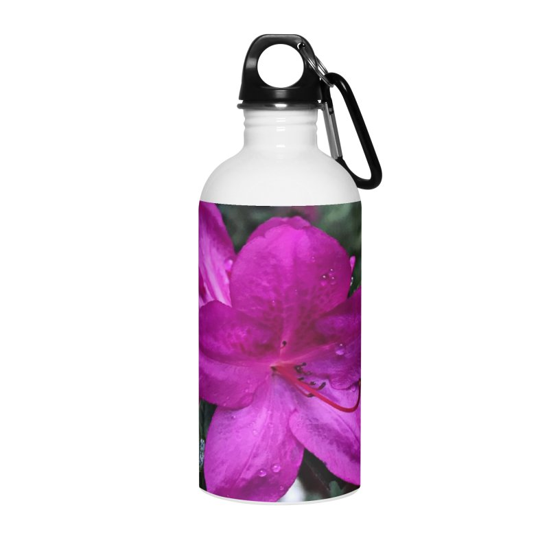 Pink Flower 3 Accessories Water Bottle by Karmic Reaction Art