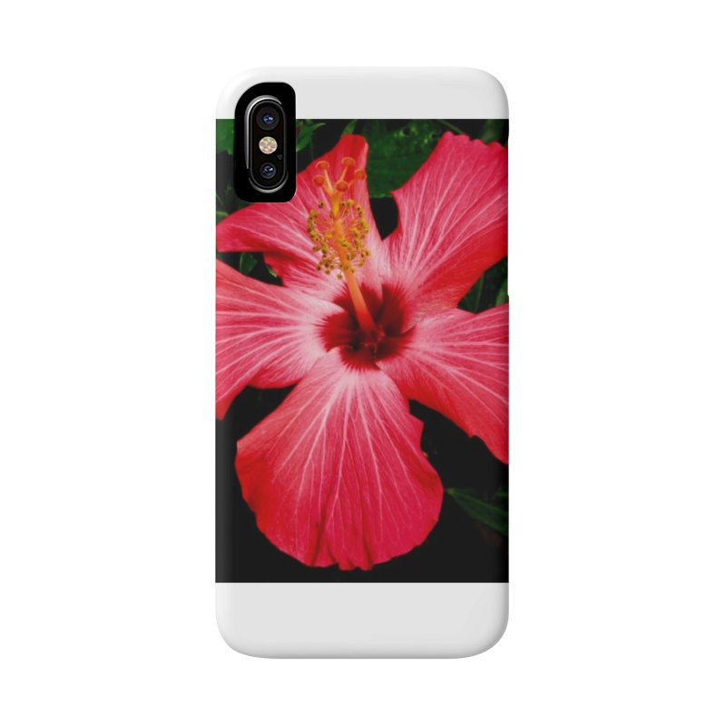 Red Flower Accessories Phone Case by Karmic Reaction Art