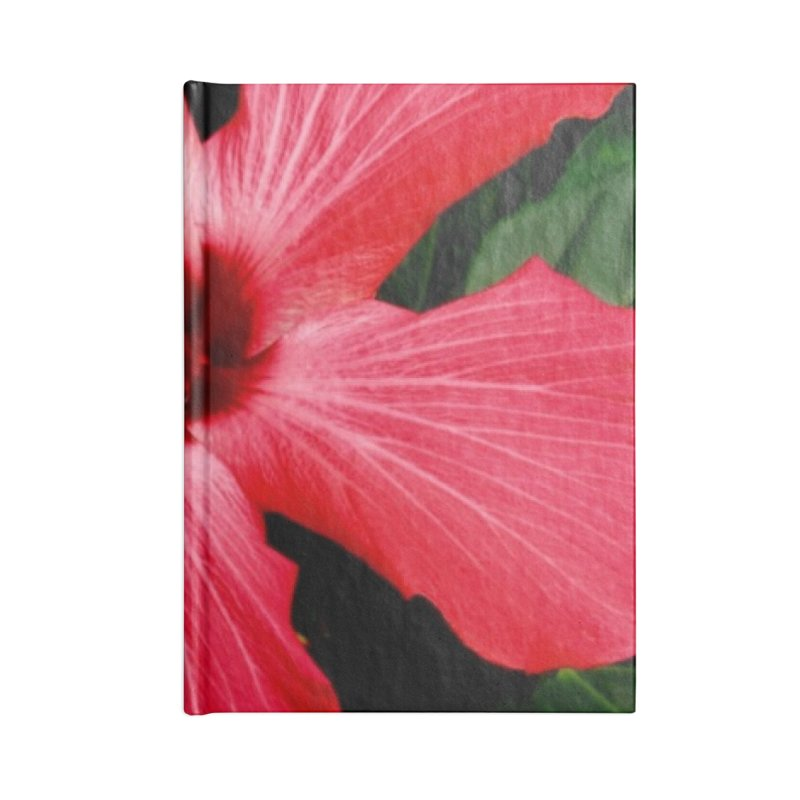 Red Flower Accessories Blank Journal Notebook by Karmic Reaction Art