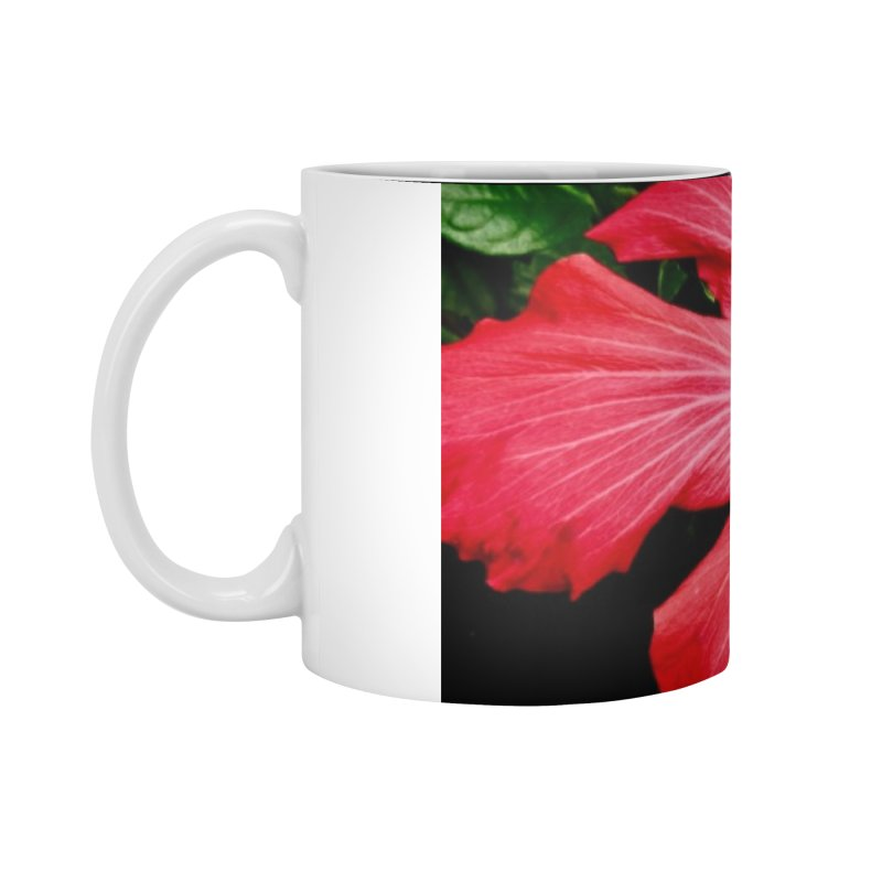 Red Flower Accessories Standard Mug by Karmic Reaction Art