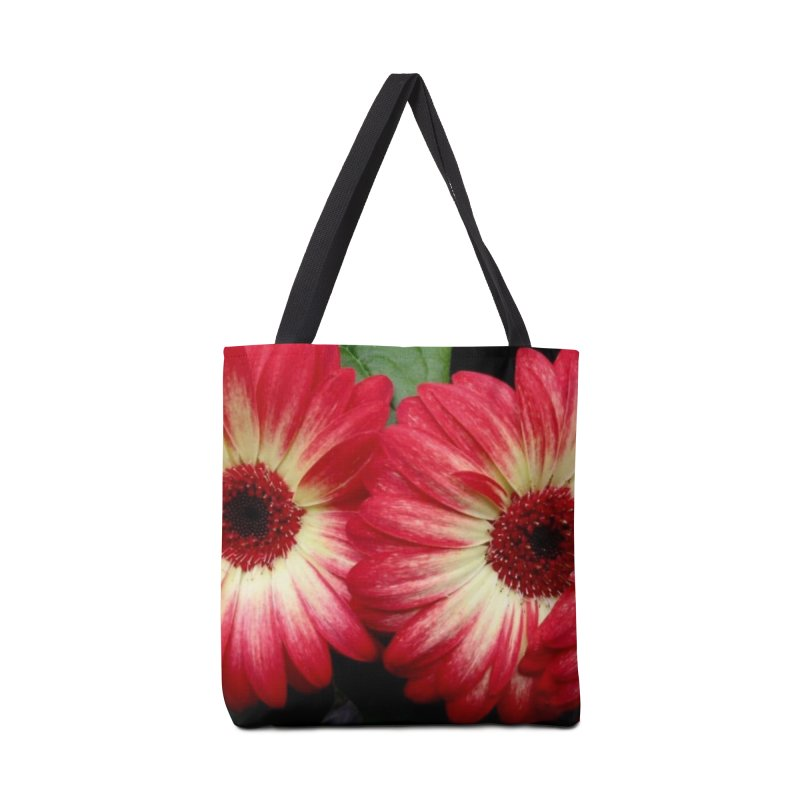Red and Yellow Flowers Accessories Tote Bag Bag by Karmic Reaction Art