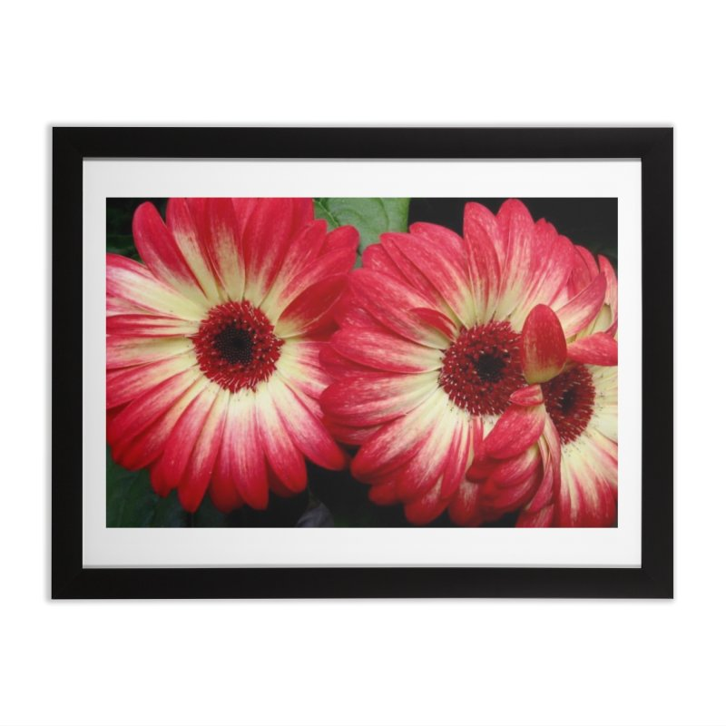 Red and Yellow Flowers Home Framed Fine Art Print by Karmic Reaction Art
