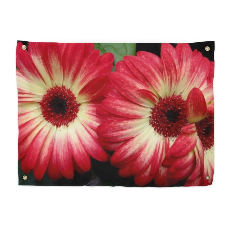 Red and Yellow Flowers Home Tapestry by Karmic Reaction Art