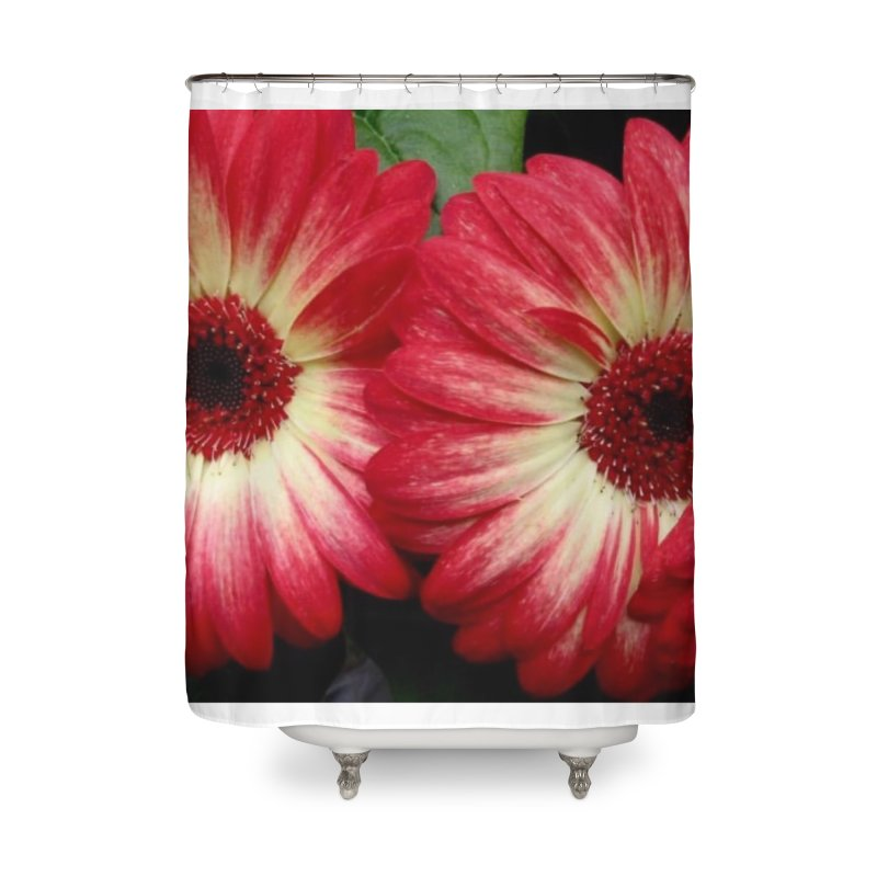 Red and Yellow Flowers Home Shower Curtain by Karmic Reaction Art