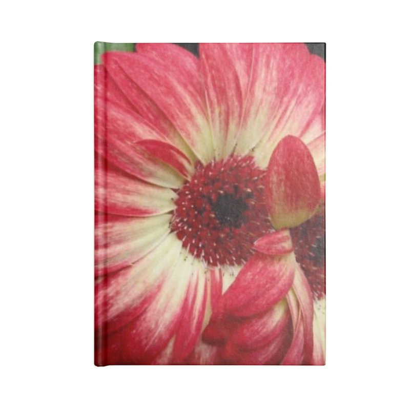 Red and Yellow Flowers Accessories Blank Journal Notebook by Karmic Reaction Art