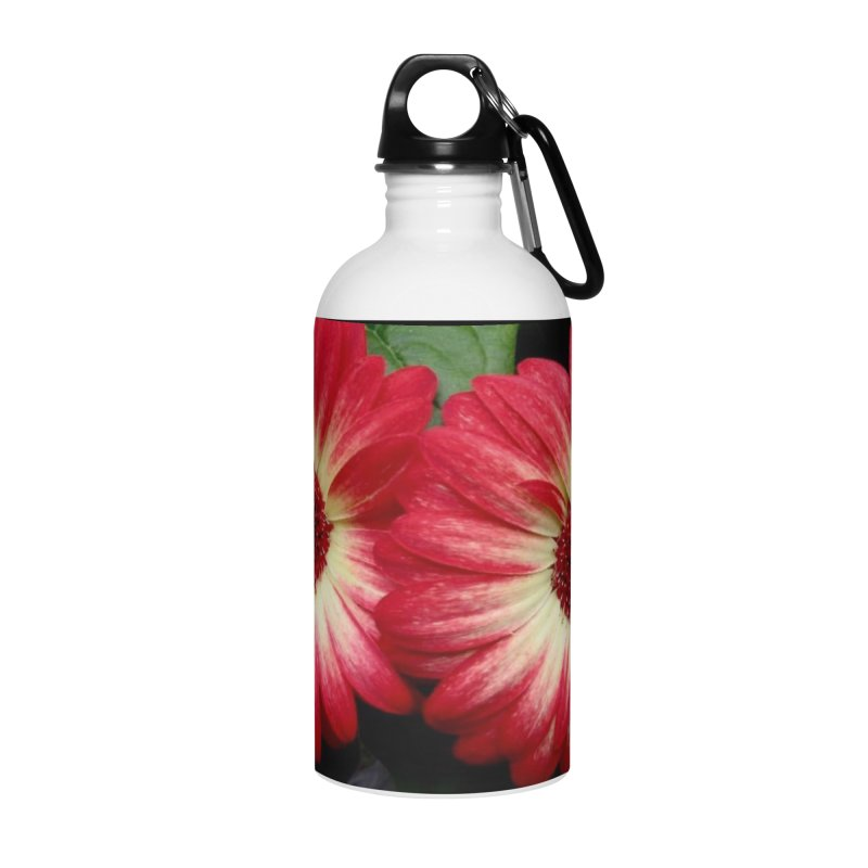 Red and Yellow Flowers Accessories Water Bottle by Karmic Reaction Art