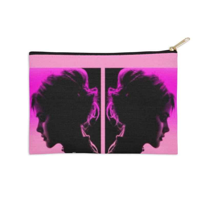 That Girl Accessories Zip Pouch by Karmic Reaction Art